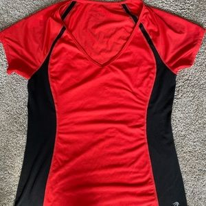 Red and Black Workout T-Shirt